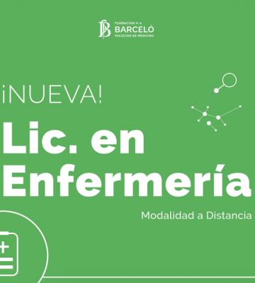 Fundación Barceló – Nueva Carrera: Lic. en Enfermería a Distancia